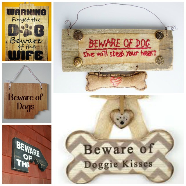 carteles cuidado con el perro